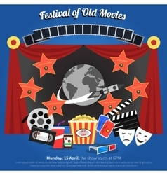 Movie Festival Poster vector image vector image