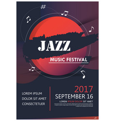 music party jazz band poster jazz club fun music vector image