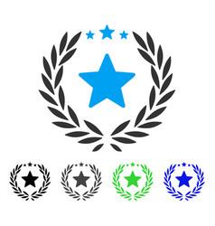 proud emblem flat icon vector image