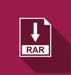 Rar file document icon download rar button icon vector