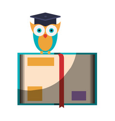 realistic colorful shading image of owl knowledge vector image