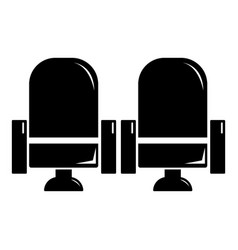 seat theater icon simple black style vector image vector image