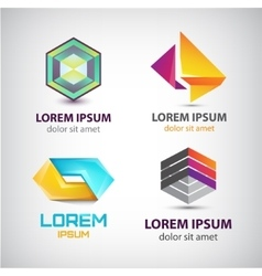 set of abstract shapes logos icons vector image vector image