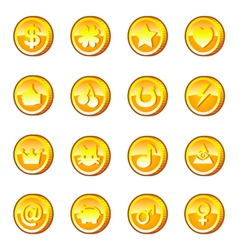 Set of gold coins vector image vector image