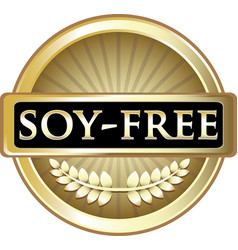 Soy free gold icon vector