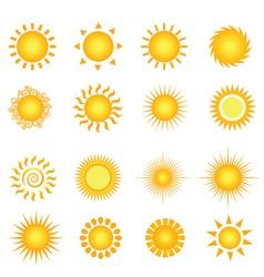 sun symbols vector image