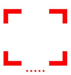 Symbol full screen icon color fill style vector