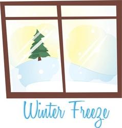 Winter freeze vector