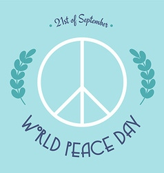 World peace day 21st of September vector image vector image
