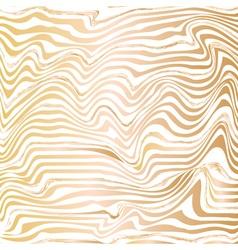 Golden abstract wave line ink texture vector