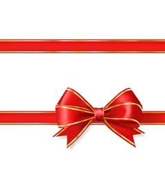 red ribbon bow vector image