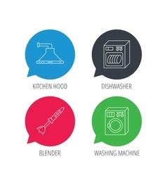 Dishwasher washing machine and blender vector