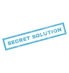 Secret solution rubber stamp vector