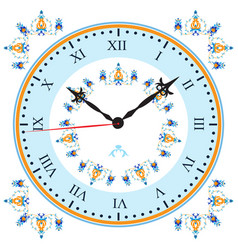Clock with oriental pattern vector