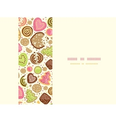 Colorful cookies horizontal seamless pattern vector