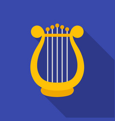 Harp icon in flate style isolated on white vector