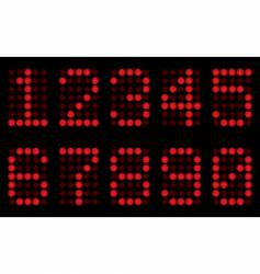 Red digits for matrix display vector