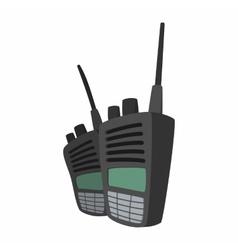 2 military radio set cartoon vector