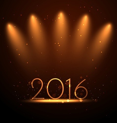 2016 greeting design in party light vector image