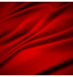 Beautiful red silk drapery textile background vector