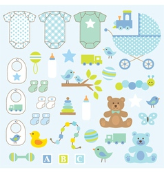 Baby boy clipart vector