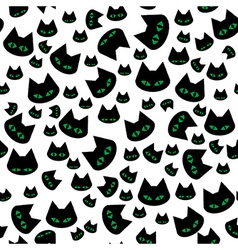Seamless texture with black cats vector