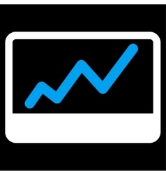 Stock market icon from business bicolor set vector
