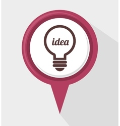 Bulb creative idea vector
