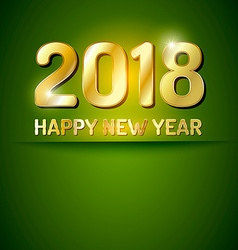 Happy new year 2018 greetings card vector