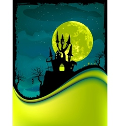 Dark scary halloween night vector
