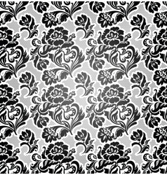 Lace background ornamental flowers vector