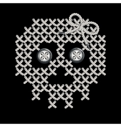 With the image of knit woven vector