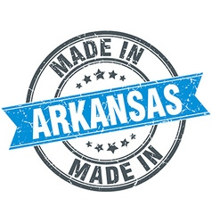 Made in arkansas blue round vintage stamp vector