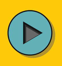 audio player in flat style with shadow vector image vector image