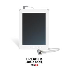 audiobook with headphones vector image