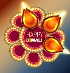 Beautiful happy diwali background vector
