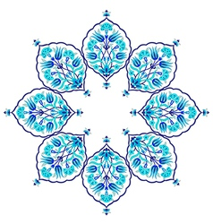 blue artistic ottoman seamless pattern series vector image