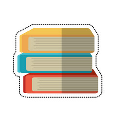 cartoon stack book school image vector image