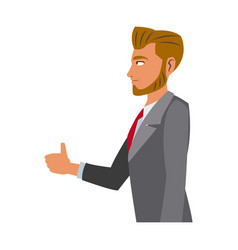 Character business man with suit vector