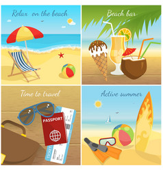 Colorful summer vacation concept vector