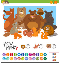 Count how many animals game vector