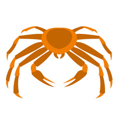 crab sea animal icon isolated vector image vector image