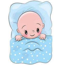 Cute cartoon sleeping baby vector