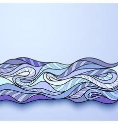 Decorative ornamental pattern background vector image vector image