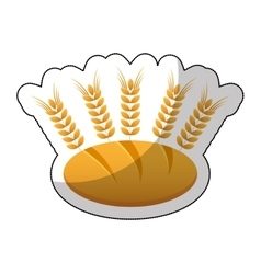 delicious bread with spikes isolated icon vector image