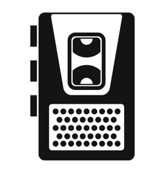 Dictaphone icon simple style vector