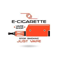 E cigarette emblem vector