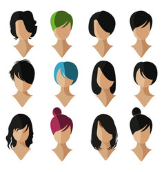 Face flat icon vector