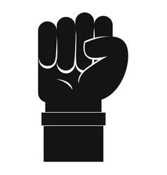 fist icon simple style vector image