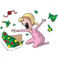 girl at Christmas vector image vector image